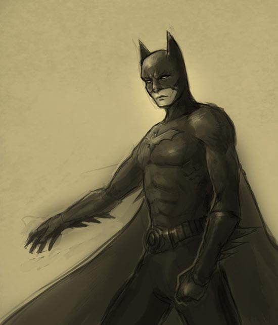Learn how to draw Batman
