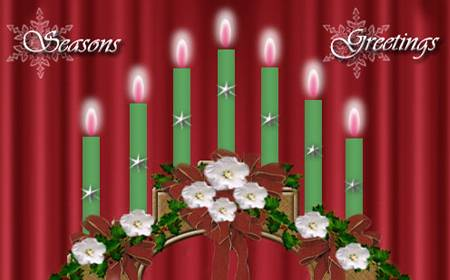 Candle-bridge in 60 Beautiful Christmas Photoshop Tutorials