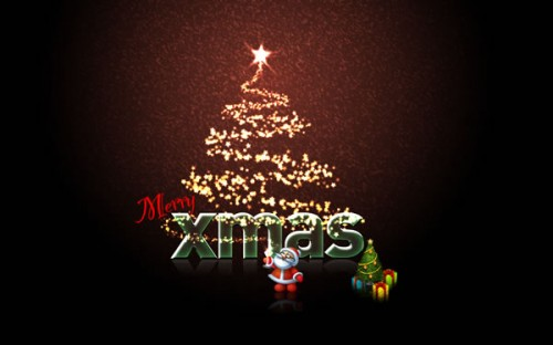 christmas card photoshop tutorial-1