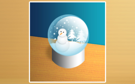 Snow-globe in 60 Beautiful Christmas Photoshop Tutorials