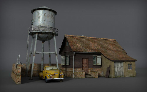 Farm in The Ultimate Collection Of Maya 3D Tutorials