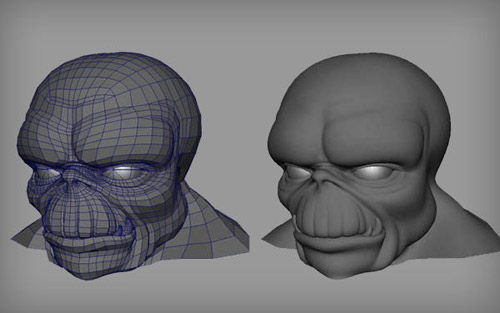 Poly Head in The Ultimate Collection Of Maya 3D Tutorials