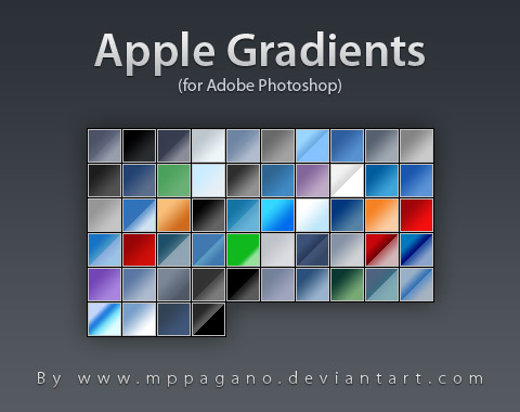 Apple Gradients by mppagano Awesome collection of Layer Styles for Photoshop