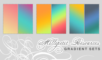 MP  Fruity Gradients by millepetit Awesome collection of Layer Styles for Photoshop