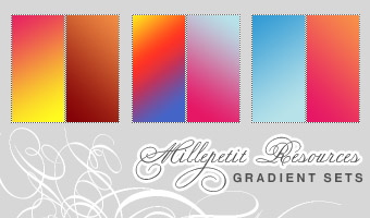 MP  Summer Loving Gradients by millepetit Awesome collection of Layer Styles for Photoshop