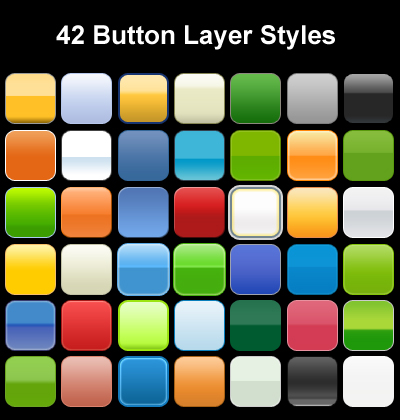 button photoshop layer styles01 Awesome collection of Layer Styles for Photoshop