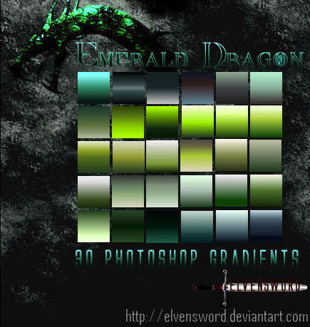 emerald-dragon-free-gradient-pack