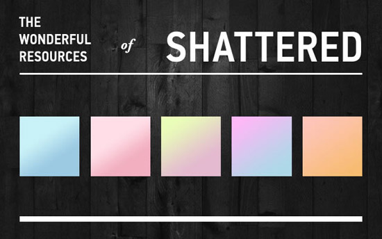 shattered 2 ps gradient 10 Awesome collection of Layer Styles for Photoshop