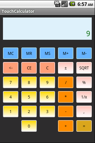 Android Touch Calculator Tutorial