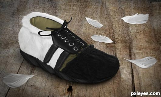 Photoshop Tutorial: Create a Feathery Shoe from Scratch