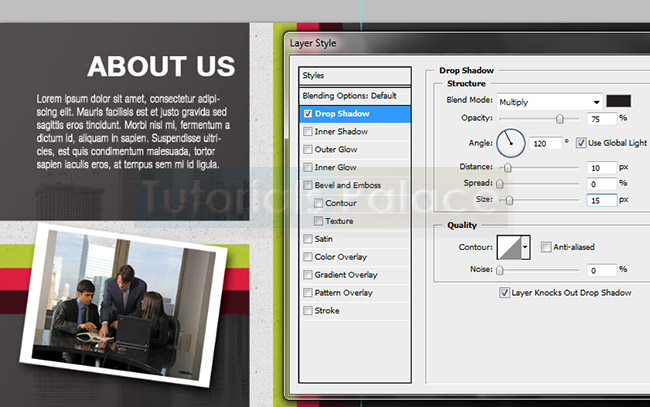 Design a half-fold Business Brochure in Photoshop
