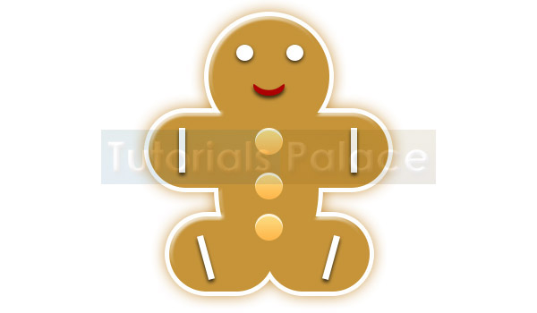 Christmas Gingerbread with White Background